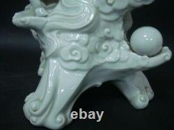 3.2kg Very Rare Large Heavy Old Chinese Three Sheeps Carving Porcelain Statue