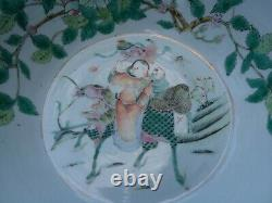 A Large Antique Chinese Qing Dynasty Famille Rose Porcelain Bowl Basin