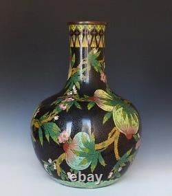 A Large Chinese Cloisonne Peach Vase