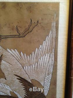 A Large and Important Chinese Antique Painting on Silk, Signed, Framed
