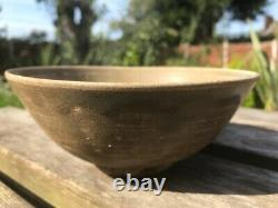 A Rare Large Antique Chinese Celadon Bowl with Four Characters, Tang-Song Dynasty