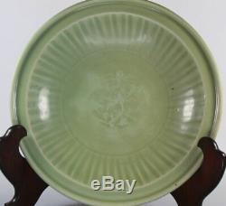 Antique 16th centrty Song Or Ming Dynasty Longquan Celadon Large Plate