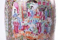 Antique 19th Original Chinese Large porcelain Vase CANTON FAMILLE ROSE 60.5 cm