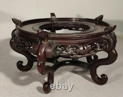 Antique Chinese Huanghuali Rosewod Type Stand Base Massive Large As Is