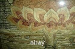 Antique Chinese Ming Large Buddha Figure Of Vajradhara Silk Embroidery Tapestry