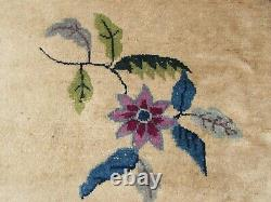 Antique Hand Made Art Deco Chinese Oriental Beige Wool Large Carpet 470x370cm