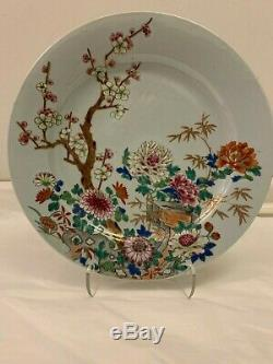 Antique Large Chinese Famille Rose Porcelain Charger, Late 18th century