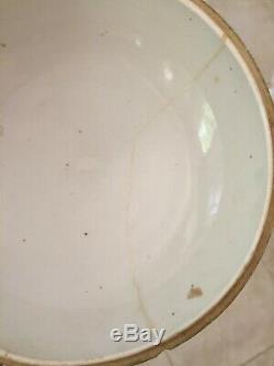 Antique large chinese blue white porcelain pot jar signed, Huê 19th