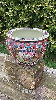 Beautiful Vintage Large Japanese Jardiniere Plant Pot Fish Bowl Design