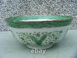 Chinese Famille Vert Large Footed Bowl