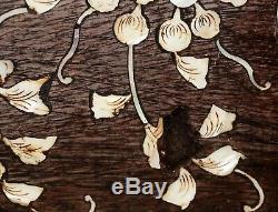 Chinese Large Hardwood Storage Chest w. MoP Inlay Birds & Flower Motifs (RiS)