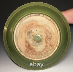 Chinese Longquan Celadon Carved LARGE Stoneware Charger with Fish Ming Platter