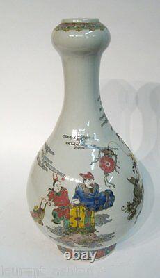 Chinese Tongzhi Qing Dynasty Mark Porcelain Iron Red Famille Verte Large Vase