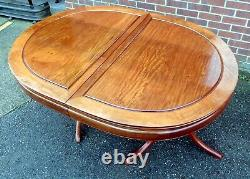 Chinese antique RepubLic period large extending solid rosewood dining table 14+