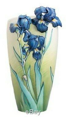 FZ02404 Franz Porcelain Van Gogh Collection Irises sculptured Large Vase