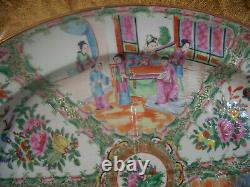 LARGE Antique Early 19th C Chinese Rose Medallion Well & Tree platter 19 Mint