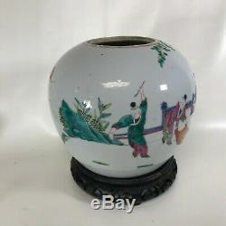 Large 19th C Chinese Porcelain Ginger Jar