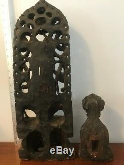 Large Antique Asian / Chinese / Oriental Wooden Buddha Statue /Carving