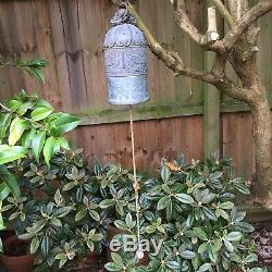 Large Antique Chinese Bronze Prayer Bell With Verses
