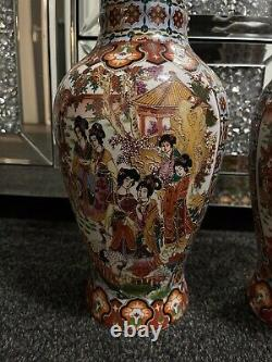 Large Antique Chinese Vases Matching Pair