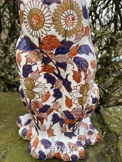Large Antique Porcelain Imari Cats 14.5 Inches Tall