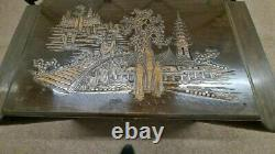 Large Carved Camphor Wood Blanket Box