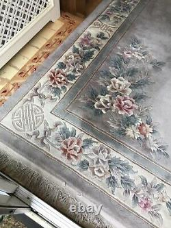Large Chinese 100% Wool Floral Rug 278cmx372cm (9ftx12ft)