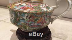 Large Chinese 19th century Mandarin teapot