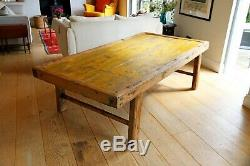 Large Chinese Painted Daybed or Coffee Table in Pine