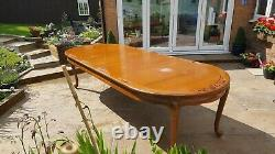 Large Extending Dining Table Hardwood Chinese hand carved