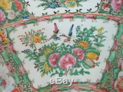 Large FAMILLE ROSE Chinese Canton 15 3/4 Porcelain Punch Bowl