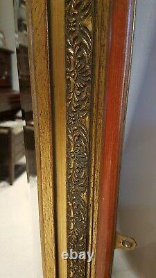 Large Mirror in Gilt/ Chinese Red carved frame. Excellent condition