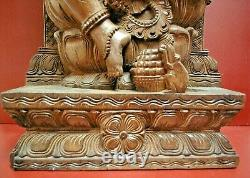 Large Rare Antique Chinese Carved Ganesh Wood Statue Shiva Bali Goddess gift