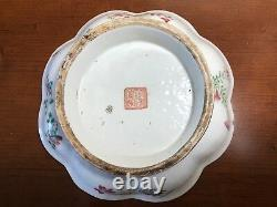 Large authentic 19th C. Antique Chinese Porcelain Famille Rose Bowl Qing Dynasty
