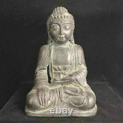 Large classic late Ming early Ching Dynasty bronze Buddha statue 17th-18th c