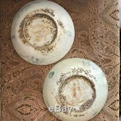 Lovely Pair of Chinese Ming Dynasty Swatow Shipwreck Large Plates