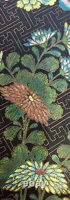 RARE! ANTIQUE LARGE China Cloisonne Tray Plate Bowl Dish 19th