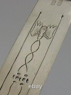 RARE LARGE CHINESE EXPORT SILVER BUTTERFLY & BAT BOOKMARK ANTIQUE c1890 KL