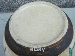 Rare Antique Chinese Ginger Jar Warriors Large Crackle Glaze