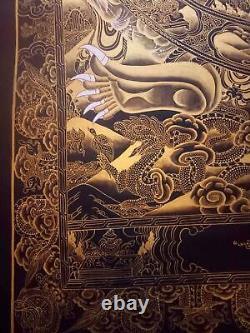 Rare Large Genuine MasterPiece Tibetan wheel of life thangka Painting Buddha