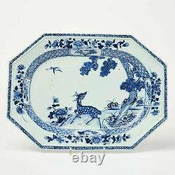 Rare Qianlong Chinese large blue and white Superb quality play dish