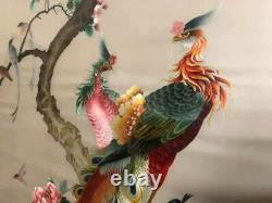 Very Large Antique / Vintage Chinese Silk Needlework Embroidery Panel / Scroll