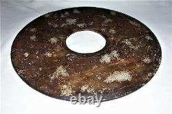 Very Large Chinese Antique stone Bi Disc