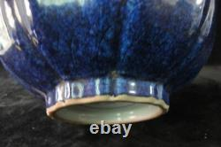Very Large Fine Old Chinese Blue Glaze Porcelain Bowl Marked XuanDe Period