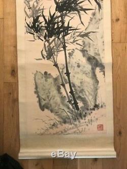 Very Large Original Vintage Chinese / Oriental Scroll Painting