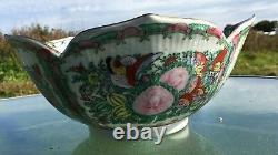 Vintage Decorative Chinese Large Porcelain Punch Bowl
