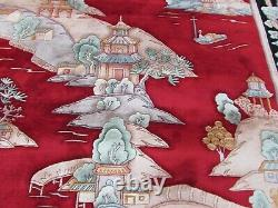 Vintage Hand Made Art Deco Chinese Oriental Red Wool Large Carpet 320x250cm