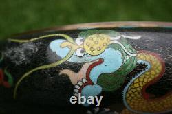 11.75 Grandes Marques Antiques Chinoises De Bronze De Cloisonne De Pot De Lavage De Brosse De Brosse