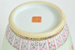 20 Chinois Rpc Jingdezhen Grand 14 Fencai Vase En Porcelaine