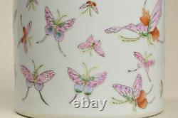 20ème Vtg Fine Chinois Prc Fencai Cent Papillon Grande Théière En Porcelaine